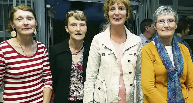 At the Kerry Hospice Foundation open night and gathering at the Palliative of Care Unit, Kerry General Hospital on Friday night for supporters and friends, were, from left; Maria Slattery, Leisha Ruddle, Brenda O'Connor, and Norann O'Connell.