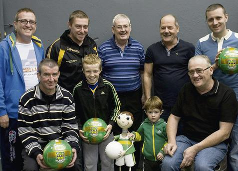 Getting ready for the Backstreet Boys event are Jerome McNamara, Niall Lynch, Jay Moran, Seanie Lynch. Back; Mike O'Donoghue, Kieran Lynch, Eamon O'Connor, Eddie Sugrue, and Sean McDonnell. Photo by Ann McNamee
