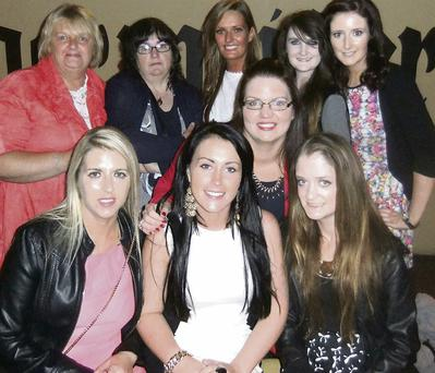 Beautiful bride to be Chanelle McInenery (seated in white) enjoying her hen party with family and friends in Hennessy's on Saturday night.