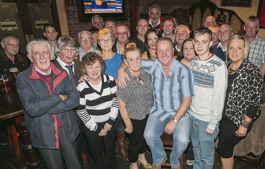 James Walsh, Hawley park Tralee, celebrates his retirement, from Tralee town council with family and friends at the Abbey Inn on Friday. Photo: Paul Tearle