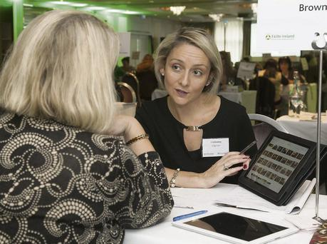 Lisa Geaney of Crag Cave chatting with Debbie Fairvalley, Atlanta, USA, at the recent Fáilte Ireland workshop. Photo: Derek Cullen