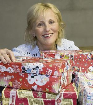 North Kerry co-ordinator, Margaret Kennedy already has her hands full as the 2013 Team Hope's Christmas Shoebox Appeal gets under way.