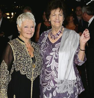 Dame Judi Dench and Philomena Lee at a screening of 'Philomena' during the 57th BFI London Film Festival.