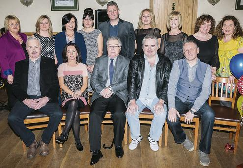 Some of the attendance at the Tesco/H Williams reunion that was held in the Kerins O'Rahillys clubhouse on Saturday night.