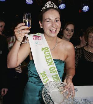 Geraldine Barrett, a teacher in Scoil Phobail Sliabh Luachra in Rathmore, was crowned Queen of the Land
