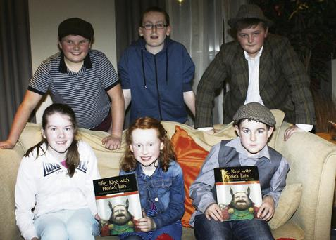 Pictured at the Young Tellers Storytelling at the second Sneem International Storytelling and Folklore Festival were, front, from left; Rachael Murphy, Sneem; Aisling Burns, Cork; Mattie O'Sullivan, Blackwater. Back, from left: Colm Van assen, Sneem; Tadhg Ó Siochirú, Tuosist and Kian Regan, Ardfert.