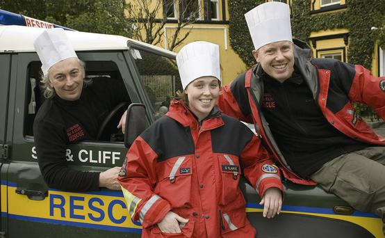 Ballybunion Sea & Cliff Rescue bolunteers Gary Kavanagh, Grace Flahive and Emmet Lynch are getting ready for the 'Tastin Ballybunion' fundraiser at the Listowel Arms Hotel.