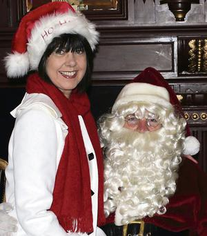 Liz Galwey and Santa – looking forward to the Magical Winter Style Fashion Show which will be held in the River Island Hotel, Castleisland on Thursday.