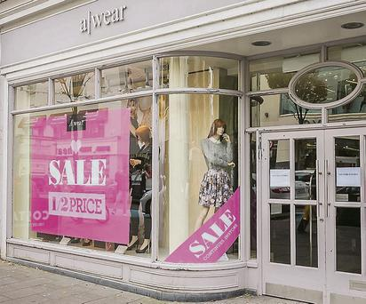 A-Wear in Tralee closed its doors.