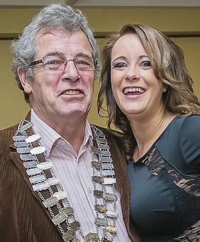Ms Gay Ireland 2013 Caitriona McCaughley with Tralee Mayor Pat Hussey