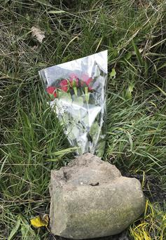 Flowers at the scene of the accident where Declan Lowney died tragically at Kilcummin Cross, Killarney.