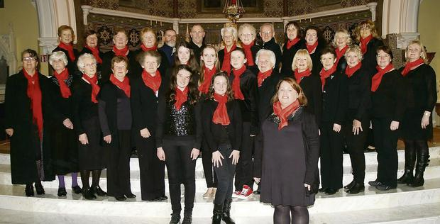 Members of the Castleisland Parish Choir with director, Ailish Walsh (front) at a reahersal in October. They will perform a Christmas Carol Service at the Church of Saints Stephen and John on Sunday evening, December 22 at 7pm. Front row, from left: Roseanne O'Shea, Roisin Beasley and Ailish Walsh. Middle row, from left: Betty Riordan, Beth Carty, Betty McAuliffe, Mary Walsh, Kathleen McAuliffe, Mary O'Connor, Katie Flynn, Grace McCarthy, Joan Tarrant, Teresa Cronin, Noreen Cremin, Betty Walsh, Anne O'Shea and Máire Flynn. Back row, from left: Noreen O'Callaghan, Sheila Walsh, Renee McCarthy, Margaret O'Leary, Flor Lynch,Tim McCarthy, Monica Prendiville, Eileen O'Flynn, Terence McQuinn, Anne McCarthy, Brid Mills, Noreen Hartnett and Joan Brosnan.
