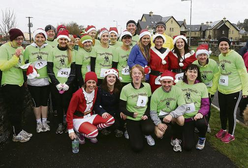Supporting 'Make a Wish' Charity run on Sunday morning from the Wetlands. Photo by John Cleary.