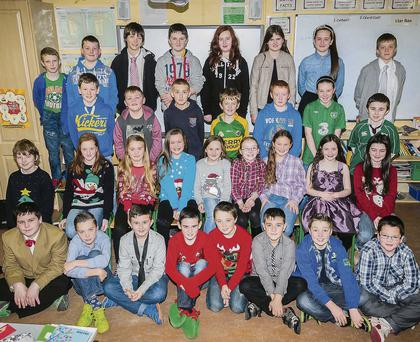Mrs Griffin's fifth and sixth class performed 'X Factor' at Glenderry NS, Ballyheigue Christmas Concert on Wednesday. Photograph by Paul Tearle