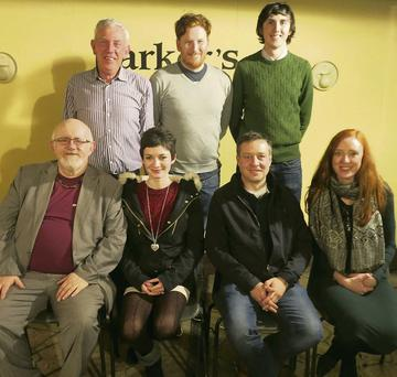 The Kilflynn Cancer Support Group Table Quiz winners pictured in Parker's Pub on Friday night. Back, from left: Michael, Matthew and PJ Barry. Front, from left: Murt Murphy (co-quizmaster), Clara Ahern, John O'Flaherty (quizmaster) and Maura Barry.