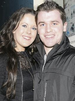 Olive Bates and Declan O'Mahoney from Scartaglin enjoying New Year's Eve in Dingle.