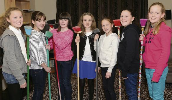 Aoife Kissane, Sophie Vousden, Saoirse Bennett, Fiona Dineen, Jodie and Sara Sheehan, Maeve Bellew Fossa junior set dancers at the Two Mile Comhaltas Rambling House in The Travel Inn, Fossa, Killarney on Saturday.