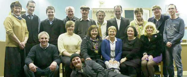Members of the Athea Drama Group who will perform Sam Cree's hit comedy 'Stop it Nurse' at the Con Colbert Memorial Hall, Athea over the next two weeks.