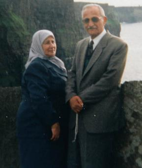 Bill's mother Fatima and his father Akram.