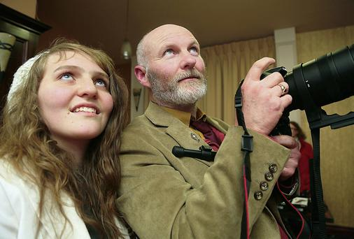 Padraig Sands and his daughter Maria Sands.