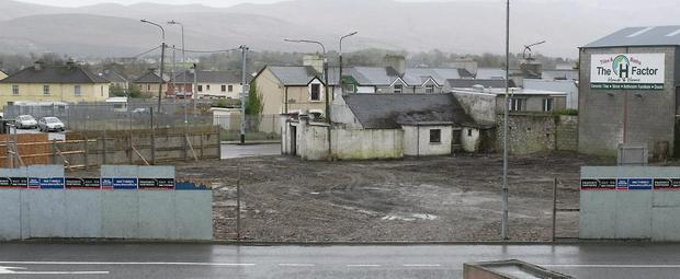 The derelict site near Austin Stack park, Tralee which has recently been cleaned up.