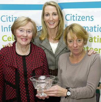 Etta Dukes, Frances Clifford and Jacqui Browne of the Tralee Citizens Information Office at the Local Citizens Information Service awards ceremony in Dublin.