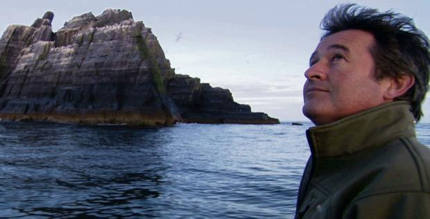 Wildlife expert Colin Stafford-Johnson at the Skelligs.