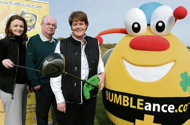 Launching the Bumbleance Golf Classic were Michelle McGreevy Manager Dooks Golf Club, John Mangan Club Captain Dooks Golf Club and Susanna Lyons Director Bumbleance which will be held in Dooks Golf Club on Friday the 9th May. (Photo by Michelle Cooper Galvin)