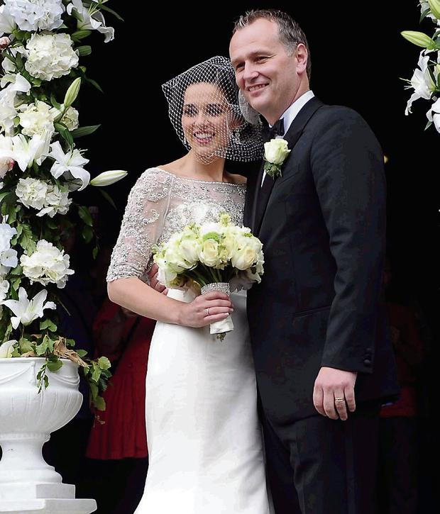 Daithi O Se and Rita Talty on their wedding day in 2012