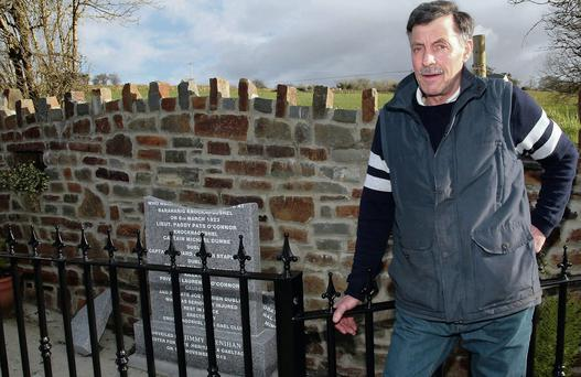 Organising committee chairman, Ben Brosnan pictured at the site of the smashed memorial at Talbot's Bridge, Knocknagoshel.