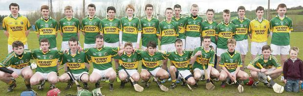The Kerry U15 hurling team that competed in the Gary Scollard Memorial Tournament at Tralee IT. Photo by Eye Focus Ltd