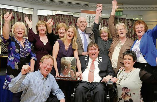 The Recovery Haven group celebrating their win at the 10th anniversary Kerry Community Awards.