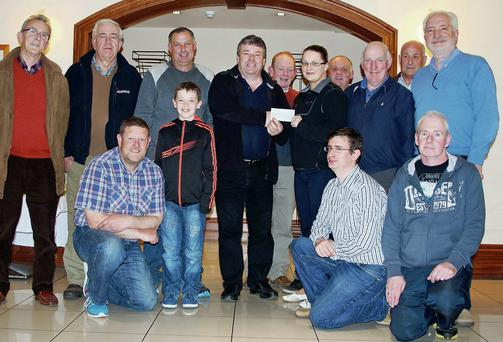 Front, from left: Tom Leslie, Gary Wynne, Paul O'Regan and Pat O'Brien. Back, from left: Gerry O'Brien, Noel O'Connor, Tony Wharton, Padraig Buckley, James Looney, Laura Wickham, Liam Wharton, Mick Myers, Thomas Wharton and Jay Galvin.