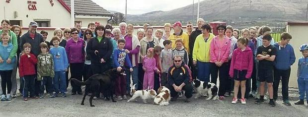 The Valentia group who completed the Good Friday walk on the island.
