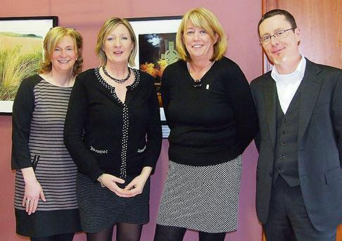 Ciara Cronin, Eileen Dineen, Catherine Orpen and Michael Gavin, Manager, Kenmare Credit Union at the launch of the website at Kenmare Credit Union.