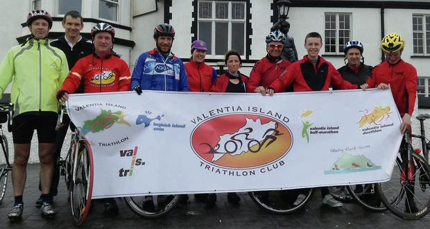 Members of both Valentia Island and Kenmare Triathlon Clubs got together for the launch of the Valentia Island Triathlon 2014, which takes place on May 24.