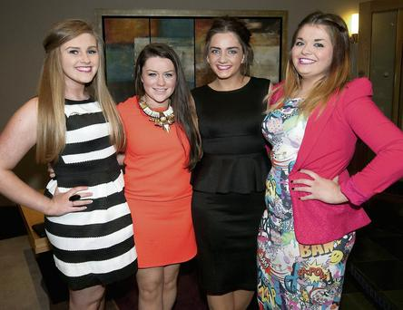Clodagh Culloty, Michelle McCarthy, Niamh O'Connor and Jade Moynihan. RIGHT: Aisling and Mag Flaherty.