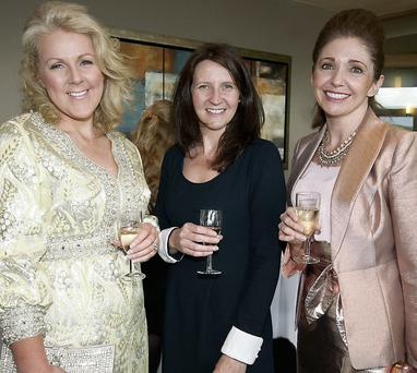 Mary Stapleton-Foley, Tina Griffin and Carol Kennelly having a wonderful time at the charity lunch.