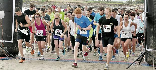 And they're off! The inaugural Brandon Bay Half Marathon & 10k getting under way last Saturday morning on the beach in Fahamore.