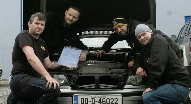 Richard Doyle, Arnold Sirka, Tom Lonergan and Phil Thomas of R&A Autos in Tralee