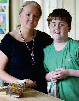 Sheila McCarthy at home in Castleisland with her son James