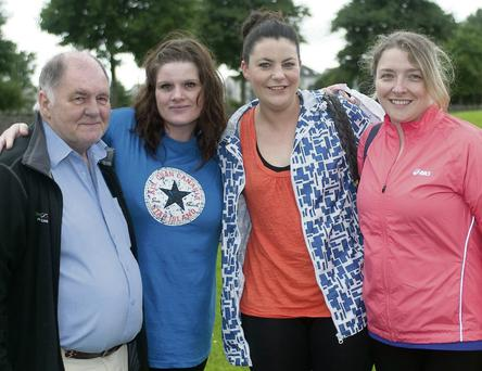 Sean Prendergast (Kerry-Cork Link), Hannah McCarthy, Aoife Hanlon and Koren O'Brien at the Walk for Jamie in aid of the Kerry-Cork Link