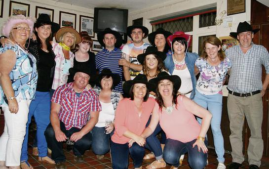 The Abbeydorney 'Cowboy's & Angels' in the Abbeydorney GAA clubhouse last Saturday night