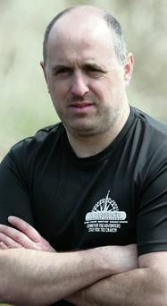 Gordon Flannery, one of the cyclists.