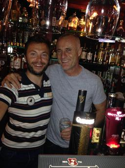 Tim Murphy popped into Baily's Corner in Tralee for a quick pint over the weekend