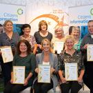 Staff from the Kerry Citizens' Information Service with their Gold Standard quality service awards. (Front L-R) Jane Kingerlee, Frances Clifford, Tina Curtin. (Back L-R) Kirstie Nowak, Aine Brosnan, Nora O'Connor, Susan Deery, Ann Roche, Mary Grandfield and Michael Kenny