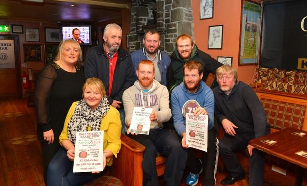 Preparing for Saturday night's Ballyheigue Beardfest at Kirby's Bar are: (back l-r), Beth O'Mahony, Martin Hanlon, Nicolas Roche and Damain Casey. Front (l-r), Eimear O'Mahony, John McDonnell, Kevin O'Mahony and Michael Leane