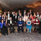 Members of the Kerry Stars: Clare Rohan, Timmy Dan O'Sullivan, Eileen Buckley, Martina Healy, Grace Murray, Emma Doolan. (Centre row from left) Claire Spillane, Siobhan Looney, John Paul Doyle, Catherine Fleming, Breda Healy, Maire Murphy, Martina McCarthy, Katie Gleeson, Janet O'Donoghue. (Back from left) Conor Griffin, Sharon O'Sullivan, Oisin O'Mahony, Tim Collins, Vincent Lacke, Michael O'Leary, James Doyle, Brendan O'Connell, Cathal Griffin enjoying the Annual Kerry Stars Black Tie Ball