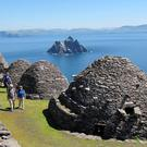 The famous beehive huts on Skellig Michael that are now being recreated at Pinewood Studios