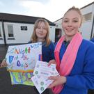 Mary Ann O'Connor and Ciara Keane help launch Lisselton NS night at the dogs on March 19